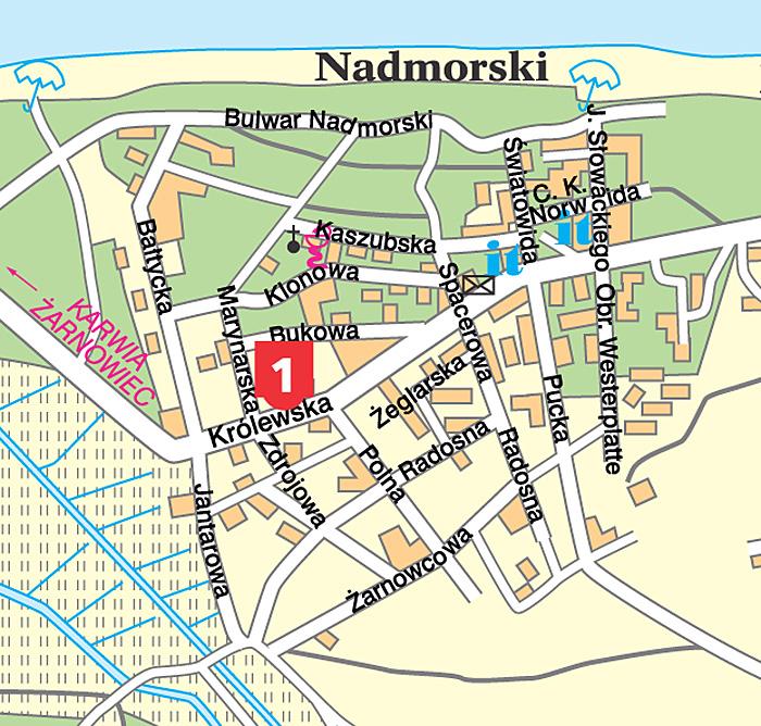 Jastrzebia Gora Osrodki Wczasowe Fwp Jastrzebia Gora Mapa Osrodki
